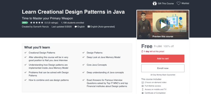 Learn Creational Design Patterns in Java