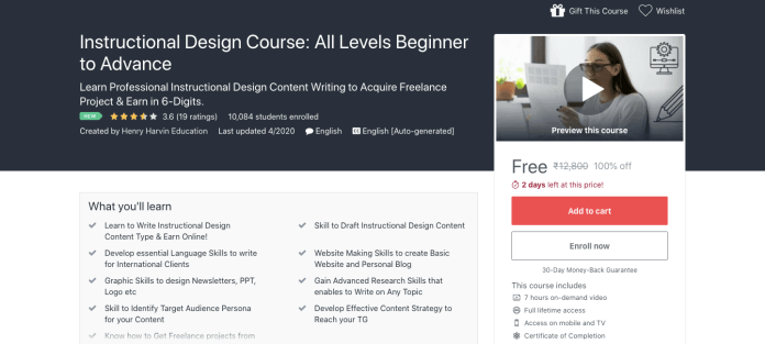 Instructional Design Course: All Levels Beginner to Advance