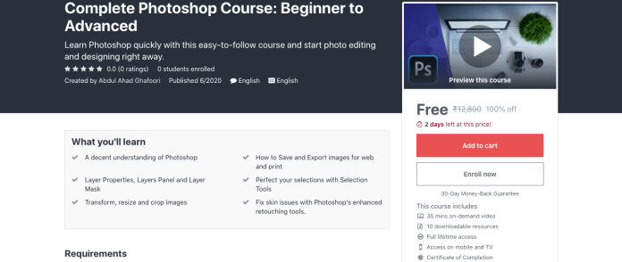 Complete Photoshop Course: Beginner to Advanced
