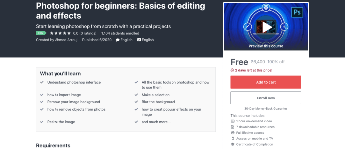 Photoshop for beginners: Basics of editing and effects