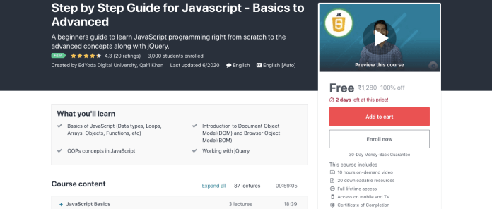 Step by Step Guide for Javascript - Basics to Advanced