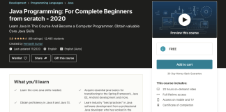 Java Programming: For Complete Beginners from scratch - 2020