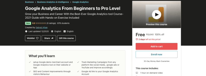 Google Analytics From Beginners to Pro Level