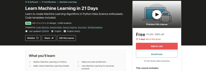 Learn Machine Learning in 21 Days