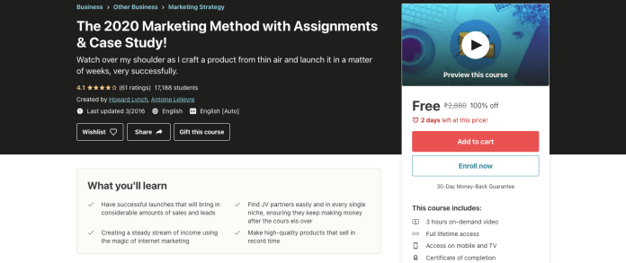 The 2020 Marketing Method with Assignments & Case Study!