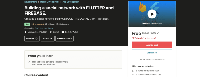 Building a social network with FLUTTER and FIREBASE.