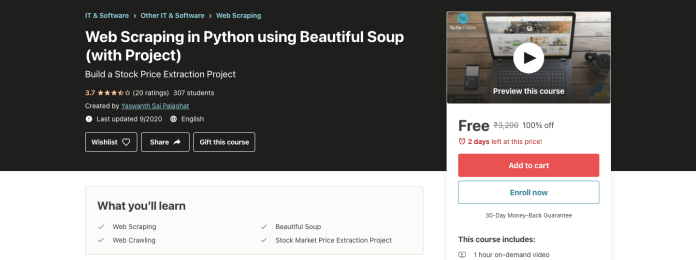 Web Scraping in Python using Beautiful Soup (with Project)