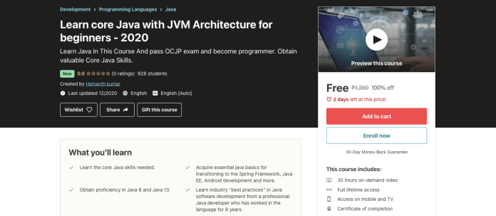 Learn core Java with JVM Architecture for beginners - 2020