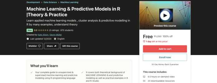 Machine Learning & Predictive Models in R |Theory & Practice