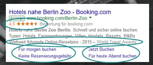 booking com bezahlte suche adwords digitales tourismus marketing