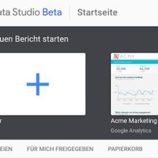 Google Data Studio in Österreich verfügbar