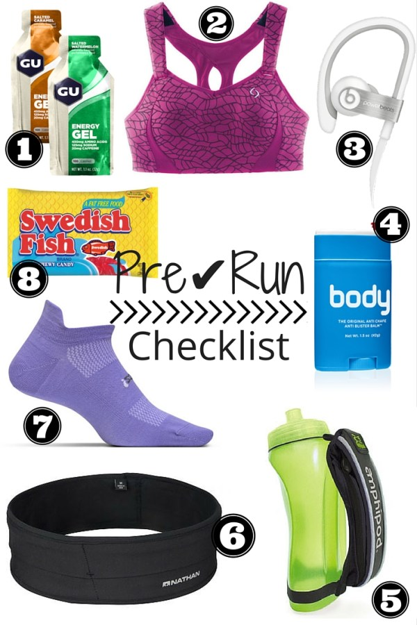Pre Run Checklist | Fresh Fit Florida