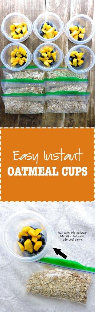 Easy Instant Fruity Oatmal Cups