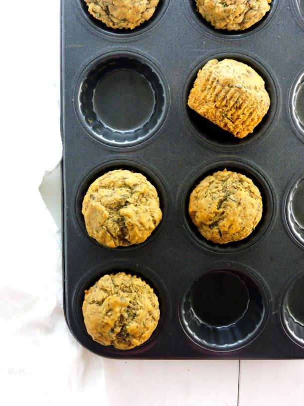 Zucchini Flax and Chia Morning Muffins
