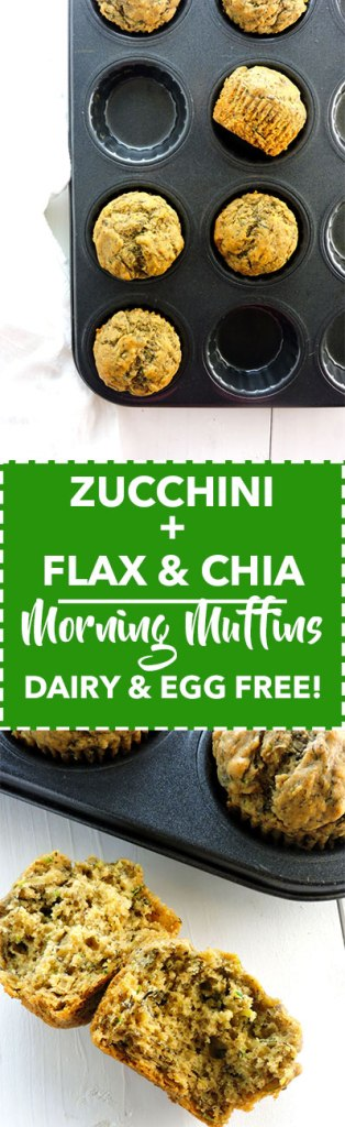 Zucchini Flax and Chia Morning Muffins