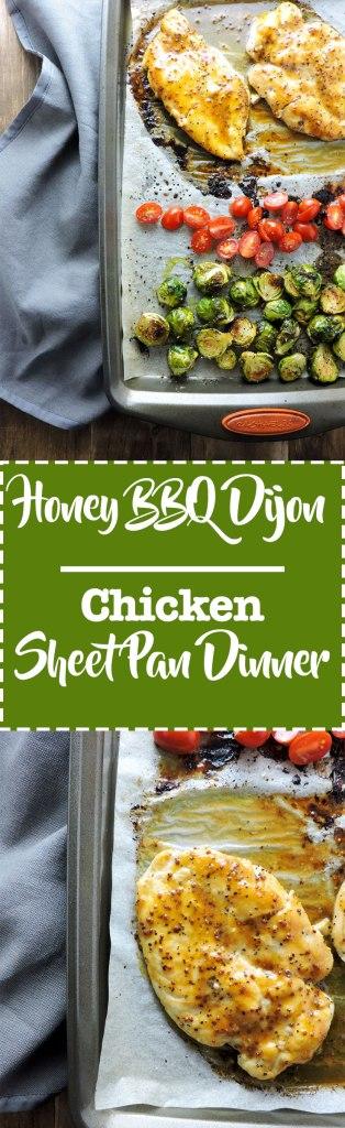 Honey Barbeque Dijon Chicken Sheet Pan Dinner