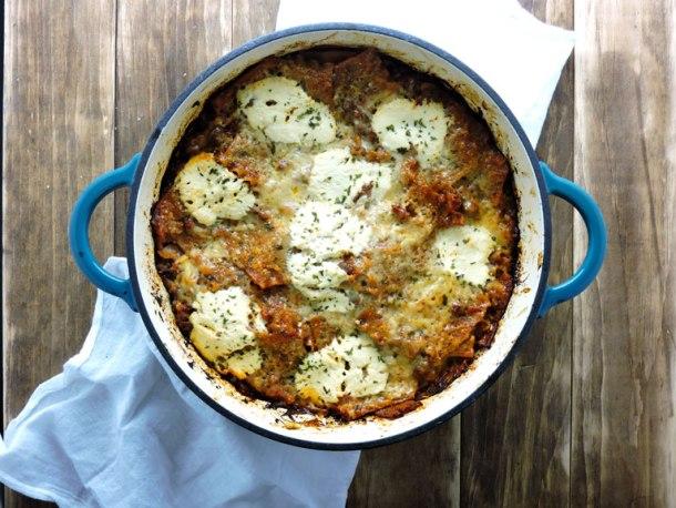 One Pan Healthy Lasagna Bake