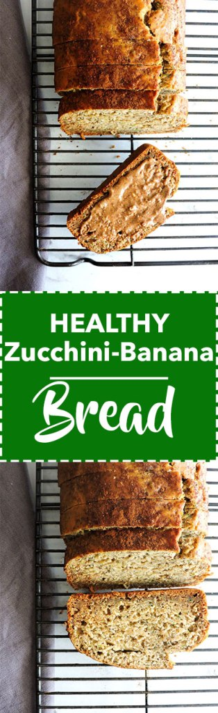 Healthy Zucchini Banana Bread