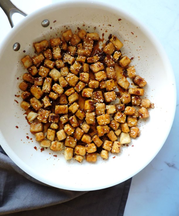 The Best Super Crispy Sesame Tofu