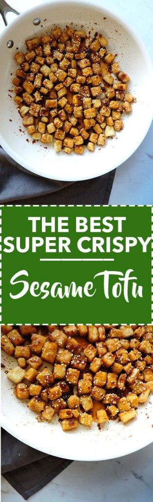 The Best Super Crispy Sesame Tofy