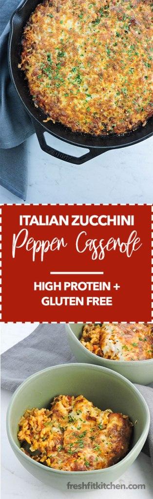 Italian Zucchini Pepper Casserole
