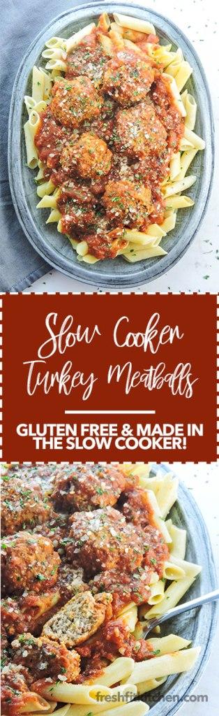 Slow Cooker Gluten Free Turkey Meatballs