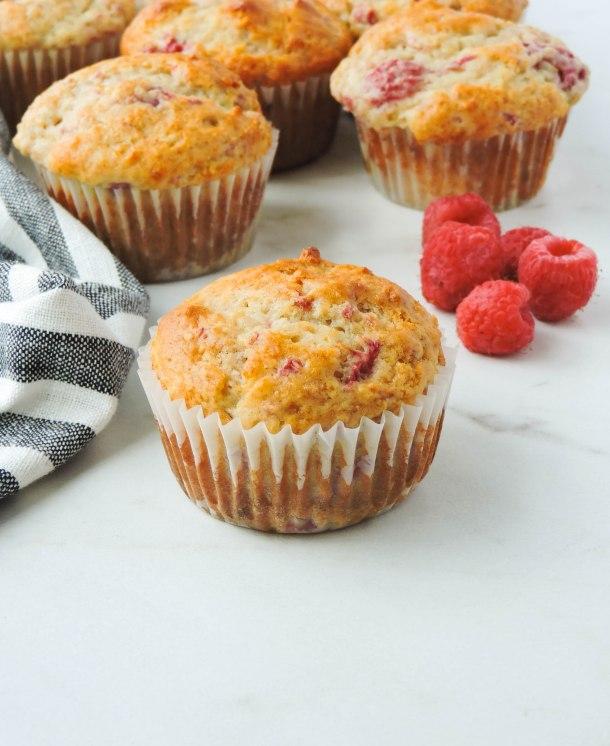 Raspberry Lemon Yogurt Muffins
