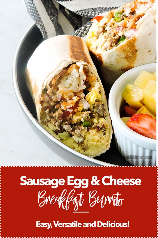 Sausage Egg and Cheese Breakfast Burritos