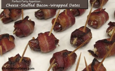 Cheese-Stuffed Bacon-Wrapped Dates
