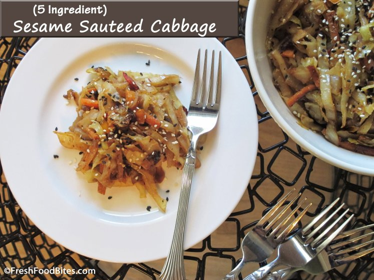 Sesame Sautéed Cabbage is a quick, easy and flavorful way to use one of the most healthful vegetables on the planet!