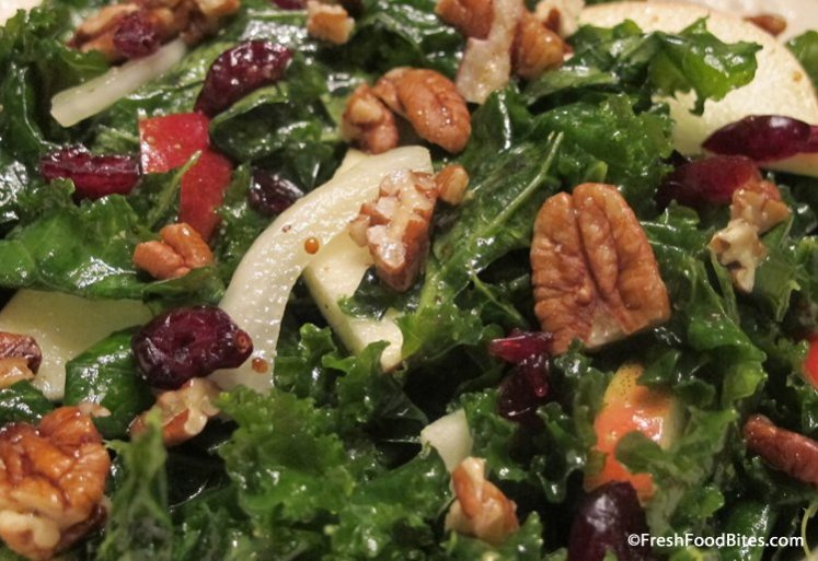Kale gets the royal treatment in this massaged Kale Apple Salad with Honey-Roasted Pecans. It's loaded with nutrition and delicious too!