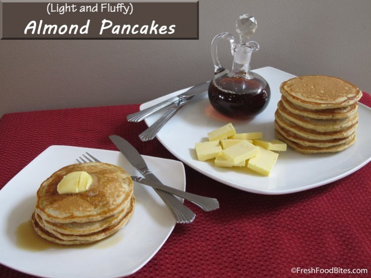 Easily turn your leftover strained almonds from making homemade almond milk into light and fluffy almond pancakes with this simple recipe that is delicious and kid-friendly.