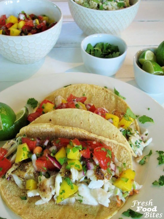 If you think eating fish tacos can only be done in a restaurant, try these Fish Tacos with Fresh Pico and Cilantro-Lime Slaw. They are fresh, healthy, delicious, and won't take you all day to make. See how easy it is to create this restaurant favorite at home.