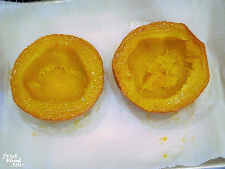 7. Cool pumpkin halves