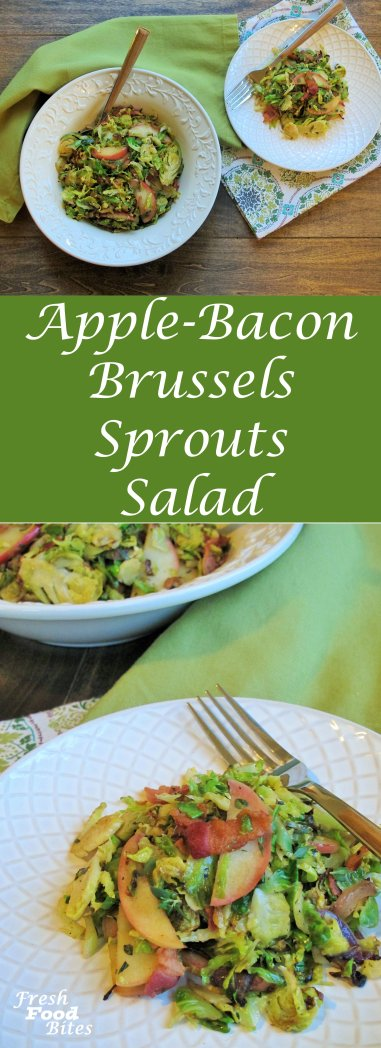 Sweet, savory, tangy, crisp, and anything but flavorless, this Apple-Bacon Brussels Sprouts Salad is healthy and loaded with beneficial nutrients. It cooks in less than 15 minutes, which makes it easy to get this warm salad to your table in no time. Use packaged shredded Brussels sprouts for an ultra-quick prep time, making it the perfect go-to salad for a busy weeknight meal.
