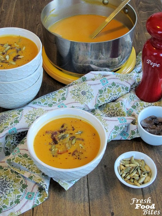 how to make squash soup without a blender