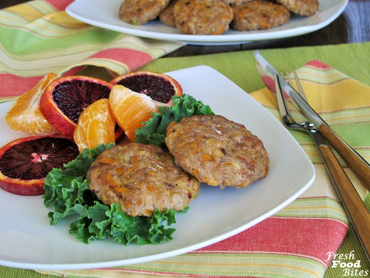 Sweet Potato-Apple Breakfast Sausages