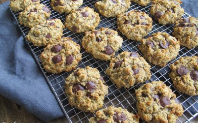 Zucchini-Almond Gluten-Free Oatmeal Chocolate Chip Cookies