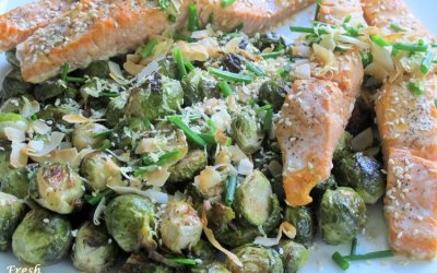 Sheet Pan Coconut Curry Salmon and Brussels Sprouts