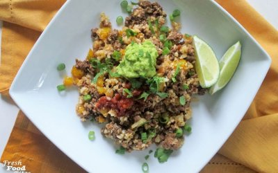 Mexican Dirty Cauliflower Rice: 30-Minute, Quick and Healthy Recipe