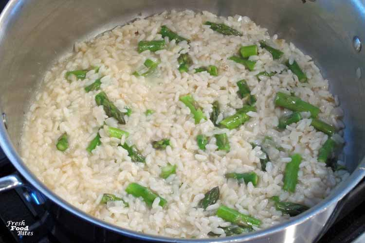 Just because you don't eat dairy doesn't mean you can't have risotto. Try this Dairy Free Asparagus Risotto to see for yourself! Cooked with wine and chicken broth, this risotto is full of traditional flavor, and it's rich and creamy thanks to the addition of cashew cream. Asparagus pieces get tossed in for the last several minutes of cooking to make a perfectly crisp-tender, fresh addition to the rich and creamy risotto.