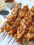 With grilling season in full swing, change things up by making these Chicken Kabobs with Chili-Garlic Barbecue Sauce. The sauce doubles as a quick marinade for the chicken and is based on Asian flavors that bring a little heat to the flavor party. Whether you're making these for a weeknight meal or weekend entertaining, they will be a hit!