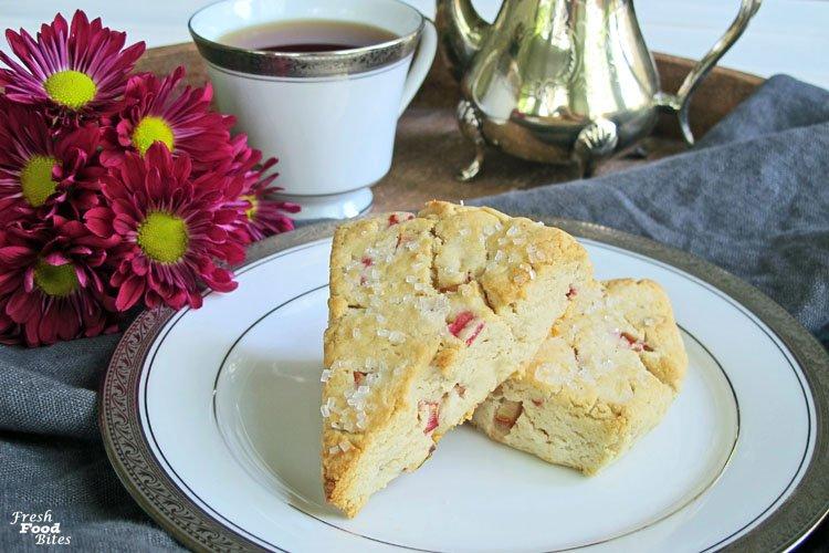 Gluten Free, Dairy Free Rhubarb Scones