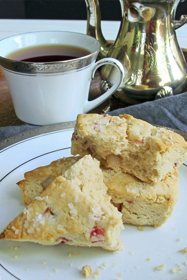 Can't decide what to do with all the rhubarb in your garden? Make these Gluten Free, Dairy Free Rhubarb Scones! They make a delicious addition to breakfast or brunch and are perfect for an afternoon tea break. They are so good you won't have trouble finding a time to eat them!