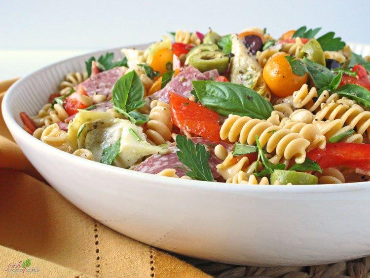 Italian Pasta Salad (Gluten Free, Dairy Free)