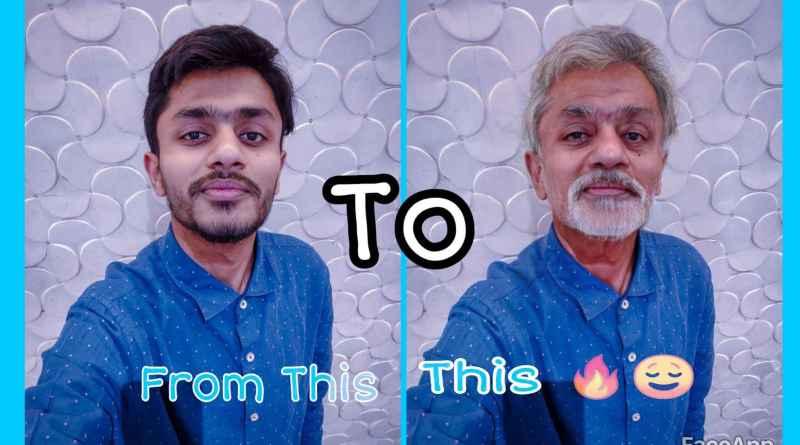 FaceApp effect aging