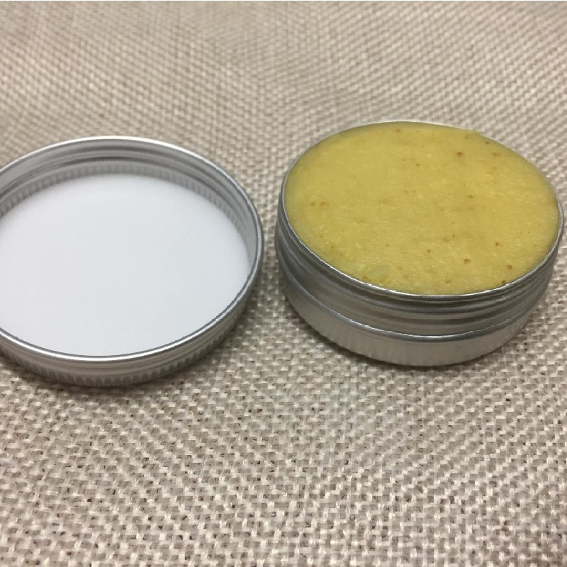 Open beeswax skin cream fresh from the hive