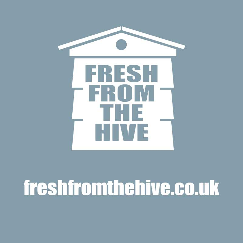 grey fresh from the hive logo