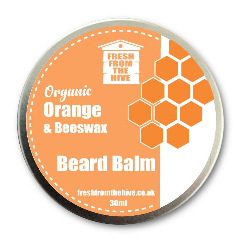 organic orange beard balm
