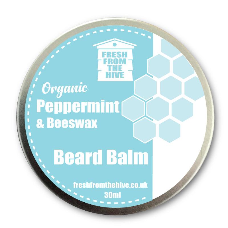 organic peppermint beard balm